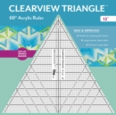 "Clearview Triangle (TM) 60 Degrees Acrylic Ruler - 12"" - Book"