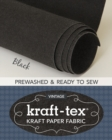 kraft-tex (R) Roll, Black Prewashed : Kraft Paper Fabric - Book