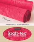 kraft-tex (R) Roll Crimson Hand-Dyed & Prewashed : Kraft Paper Fabric - Book