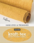 kraft-tex (R) Roll Saffron Hand-Dyed & Prewashed : Kraft Paper Fabric - Book