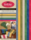 kraft-tex (R) Sampler Essential Colors Hand-Dyed and Prewashed : Kraft Paper Fabric - Book