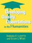 Developing Quality Dissertations in the Humanities : A Graduate Student's Guide to Achieving Excellence - eBook