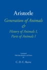 Generation of Animals & History of Animals I, Parts of Animals I - Book