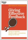 Giving Effective Feedback (HBR 20-Minute Manager Series) - Book