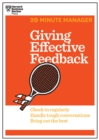Giving Effective Feedback (HBR 20-Minute Manager Series) - eBook