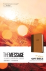 Message Deluxe Gift Bible (Leather-Look, Brown/Saddle Tan) - Book