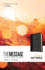 Message Deluxe Gift Bible (Leather-Look, Black/Slate) - Book