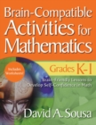 Brain-Compatible Activities for Mathematics, Grades K-1 - eBook