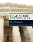 High Court Case Summaries on Civil Procedure (Keyed to Subrin) - eBook