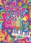 Notebook Doodles Peace Love and Music Guided Journal - Book