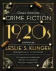 Classic American Crime Fiction of the 1920s - Book