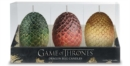 Game of Thrones: Sculpted Dragon Egg Candles : Set of 3 - Book