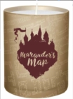 Harry Potter: Marauder's Map Glass Candle - Book
