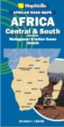 African road maps Africa Central & South : Including Madagascar & Indian Ocean Islands - Book