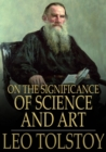 On the Significance of Science and Art - eBook