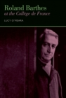 Roland Barthes at the College de France - eBook