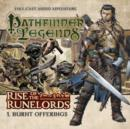 Rise of the Runelords: Burnt Offerings - Book