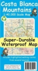 Costa Blanca Mountains Tour & Trail Super-Durable Map - Book