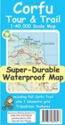 Corfu Tour & Trail Super-Durable Map - Book