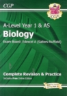 A-Level Biology: Edexcel A Year 1 & AS Complete Revision & Practice with Online Edition - Book