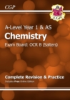 A-Level Chemistry: OCR B Year 1 & AS Complete Revision & Practice with Online Edition - Book