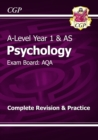 A-Level Psychology: AQA Year 1 & AS Complete Revision & Practice - Book