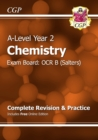 A-Level Chemistry: OCR B Year 2 Complete Revision & Practice with Online Edition - Book