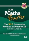 MathsBuster: GCSE Maths Interactive Revision (Grade 9-1 Course) Foundation - DVD-ROM - Book