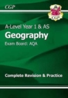 A-Level Geography: AQA Year 1 & AS Complete Revision & Practice - Book
