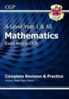 New A-Level Maths for OCR: Year 1 & AS Complete Revision & Practice with Online Edition - Book