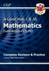 A-Level Maths for OCR MEI: Year 1 & AS Complete Revision & Practice with Online Edition - Book