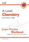 New A-Level Chemistry: AQA Year 1 & 2 Exam Practice Workbook - includes Answers - Book