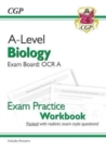 New A-Level Biology: OCR A Year 1 & 2 Exam Practice Workbook - includes Answers - Book