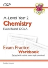 New A-Level Chemistry: OCR A Year 2 Exam Practice Workbook - includes Answers - Book
