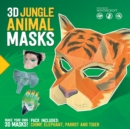3D Jungle Animal Masks - Book