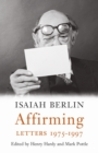 Affirming : Letters 1975-1997 - Book