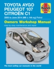 Toyota Aygo, Peugeot 107 & Citroen C1 Petrol ('05-June'14) 05 To 14 - Book