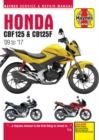 Honda CBF125 & CB125F ('09 To '17) - Book