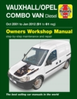 Vauxhall/Opel Combo Diesel Van (Oct 2001 To Jan 2012) 51 To 61 - Book