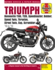 Triumph Bonneville T100, T120, Speedmaster, Bobber, Speed Twin, Thruxton, Street Twin, Cup, Scrambler (16 to 19) : 16 to 19 - Book