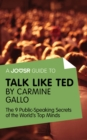 A Joosr Guide to... Talk Like TED by Carmine Gallo : The 9 Public Speaking Secrets of the World's Top Minds - eBook