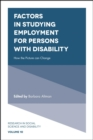 Factors in Studying Employment for Persons with Disability : How the Picture can Change - Book