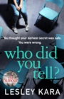 Who Did You Tell? : From the Sunday Times bestselling author of The Rumour - Book
