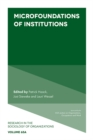 Microfoundations of Institutions - Book