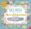 Gift Boxes to Colour and Make: A Year of Celebrations - Book
