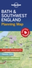 Lonely Planet Bath & Southwest England Planning Map - Book