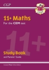 New 11+ CEM Maths Study Book (with Parents' Guide & Online Edition) - Book