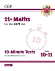 New 11+ CEM 10-Minute Tests: Maths - Ages 10-11 Book 1 (with Online Edition) - Book