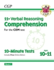 New 11+ CEM 10-Minute Tests: Comprehension - Ages 10-11 Book 1 (with Online Edition) - Book