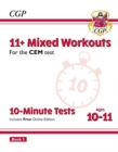 New 11+ CEM 10-Minute Tests: Mixed Workouts - Ages 10-11 Book 1 (with Online Edition) - Book